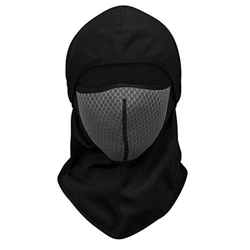 Full Face Mask Warm Windproof Helmet Liner Riding Ski Bicycle Biker Snowboard Moto Hat (Color : Grey) ()