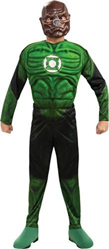 Boys Green Lantern Kilowog Kids Child Fancy Dress Party Halloween Costume, S (4-6)