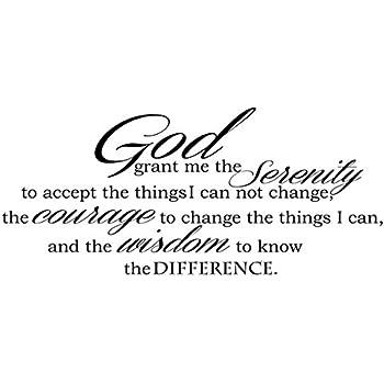 Amazon.com: GOD GRANT ME THE SERENITY PRAYER BIBLE Art ...