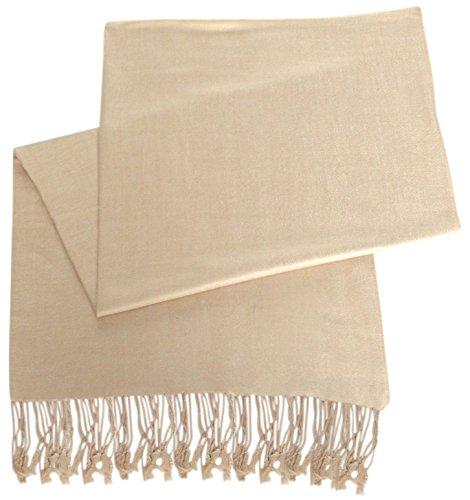 CJ Apparel Nude Solid Color Design Shawl Pashmina Scarf Wrap Stole SecondsNEW