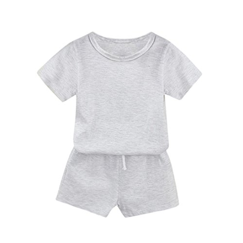 FEITONG Toddler Kids Baby Boys And Girls Summer Solid Tops T-Shirt Shorts Sets Outfits Clothes Christmas Tree Pin Book