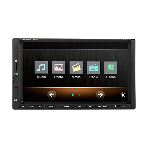 Ezonetronics 7-inch Indash Double DIN Touch Screen Car Player Car Stereo with Bluetooth USB SD Mp3 MP4 Radio for Universal(No DVD) CW9301