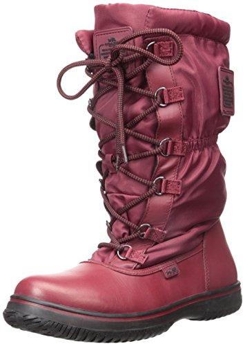 Coach Women's Sage Black/Cherry Rubber Boot (Rain Boot Womens Cherry)