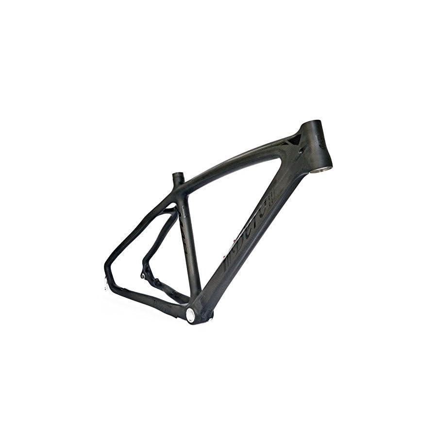 BEIOU 3k Carbon Fiber Mountain Bike Frame T800 Ultralight 26 Inch MTB Matte Black Unibody Internal Cable Routing B024AX