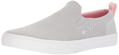 Columbia PFG Women's Dorado Slip PFG Sneaker, Grey Ice, Rosewater, 8 Regular US