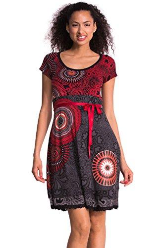 Desigual Women's Noa Woman Knitted Dress Short Sleeve, Black, X-Large
