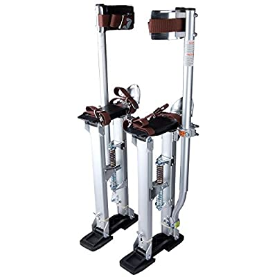 Eight24hours Drywall Stilts Aluminum Tool Stilt 24-40 Inch For Taping Painting Painter Silver
