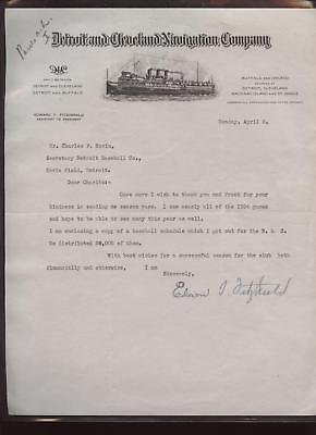 1935-Detroit-Tigers-Letter-to-Charles-Navin-MLB-Autographed-Miscellaneous-Items