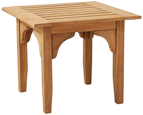 (Cambridge-Casual AMZ-180277T Auburn Patio Side Table, Teak)
