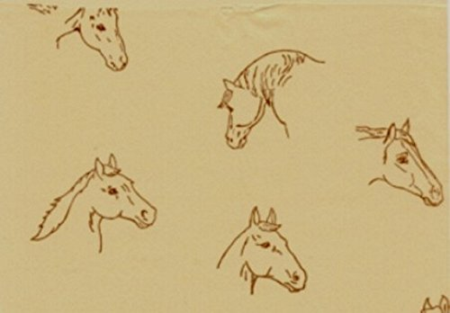 Acorn Spring Ranch Horses on Kraft Gift Tissue Paper-30 Sheets