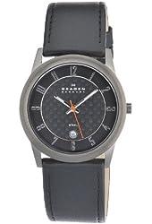 Skagen Men's 124XLMLBC Quartz Stainless Steel Black Dial Watch