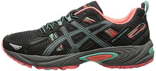 ASICS Women's Gel-venture 5 Running Shoe, Black/Aqua Mint/Flash Coral, 6 M US by ASICS (Image #5)