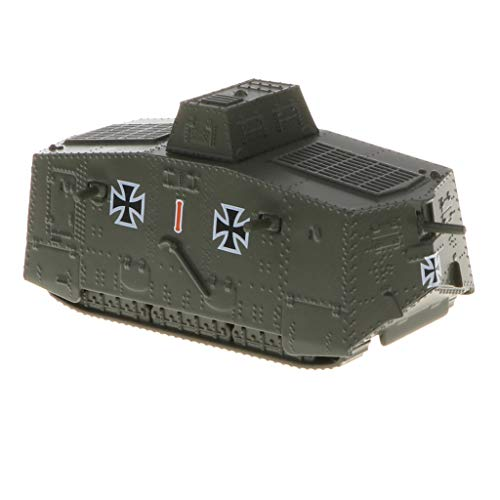 (B Blesiya 1/100 German A7V Tank WWI Heavy Panzer Army Vehicle Model Toy for Kids Boys)
