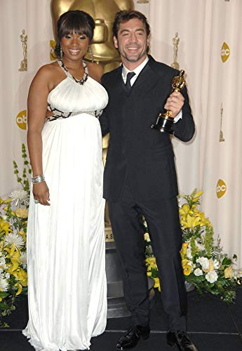 Posterazzi Poster Print Collection EVC0824FBBVK005 Jennifer Hudson Javier Bardem Room for Press Room-80Th Annual Academy Awards Oscars Ceremony
