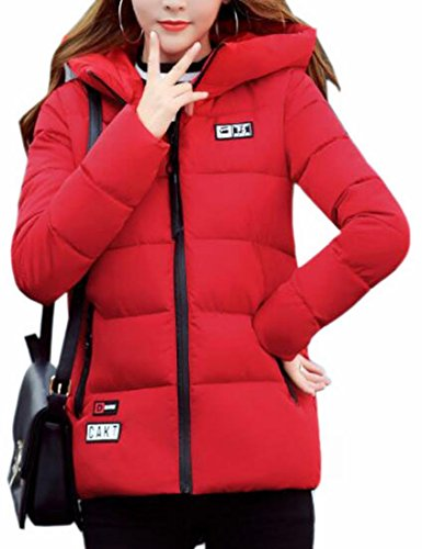 Down UK today Coat Hooded Light Down Short Red Jacket Weight Women's Sd8q8wH