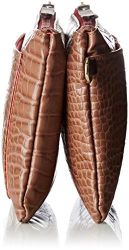 Bensimon Minibag - Borse a tracolla Donna, Beige (Beige Croco), 1.5x16x23 cm (W x H L)