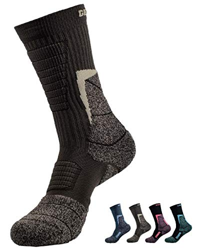 Mens Antibacterial Odor Moisture Wicking Outdoor Hiking Socks w/Thermal Regulating Germanium & Coolmax All Season 1 pair