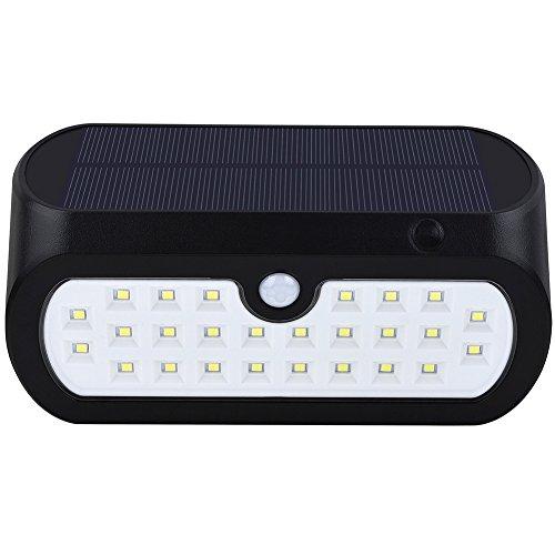 Yiding Waterproof Solar-Powered LED Yard Wall Lamp Light Sensor & Human Body Induction Lawn Street Light by YiDing