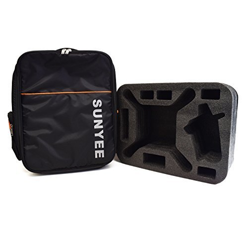 SUNYEE Durable Double Shoulder Casual Backpack Carrying Bag Case with Custom Pre-Cut Foam Insert for DJI Phantom 3 Drone and Accessories