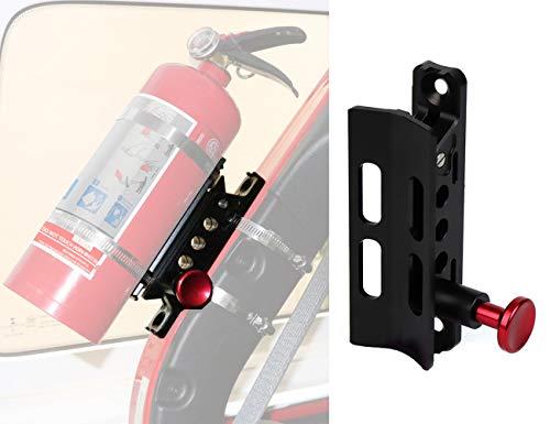 Fits Jeep Wrangler Fire Extinguisher Mount Bottle Holder Aluminum for JK JKU JL UTV Roll ()