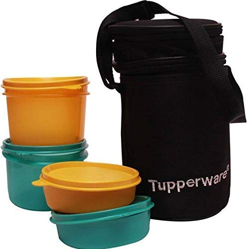 TP-990-T186 Tupperware Executive Lunch (Including Bag) With Small Bowls and Large Bowls allows you to Pack a Complete Lunch (Best Lunch Box Brands)