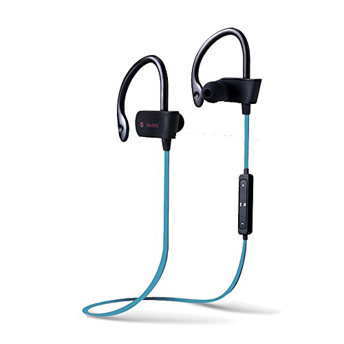 hot sale 2017 Wireless Sport Headphones, BRONZEMAN Sweatproof 4.1 Bluetooth Stereo Headset With Volume Control+Microphone For Workout (Voice Prompt,Secure Fit) - 4 Different Colors (blue)