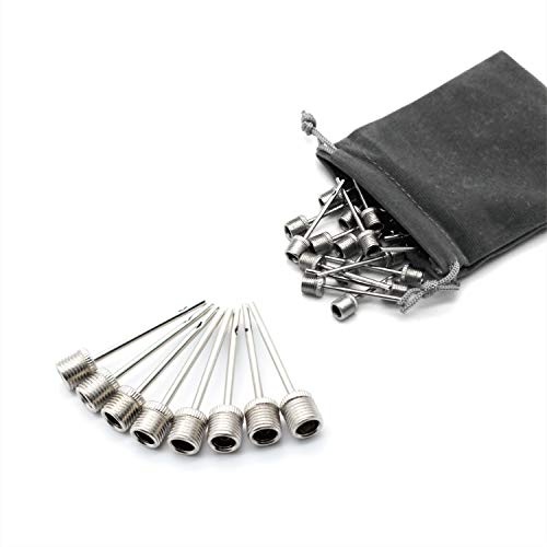 - Qihaihp 30 Pcs Stainless Steel Air Pump Needles Ball Pump Inflation Needles Pin for Blowing Up Football, Basketball, Soccer, Volleyball, Netball, Handball, Waterpolo Balls and All Other Sports