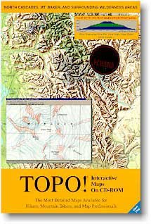 (TOPO! Interactive Topographic Maps on CD-ROM for North Cascades, Mt. Baker, and Surrounding Wilderness Areas (PC) (Computer Software))