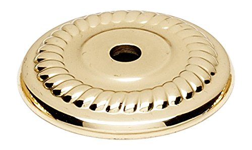 Alno A813-14P-PB Rope Traditional Backplates, Polished Brass, - Pb Backplate