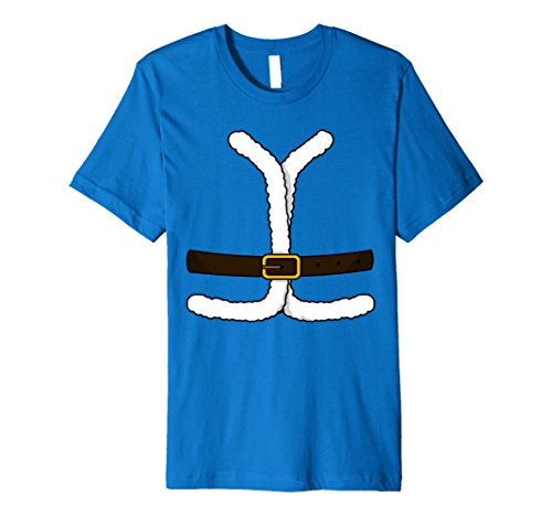 Mens SANTA CLAUS COSTUME Christmas Shirt | Xmas T-Shirt Gift XL Royal Blue