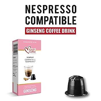 Ginseng Espresso Italian Coffee Nespresso Compatible Capsules 10