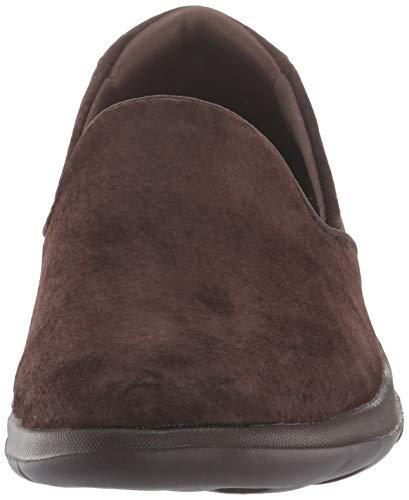 Glam Skechers Chocolate Shoes Womens Lite Slip Gowalk On Comfort gvR1tv7