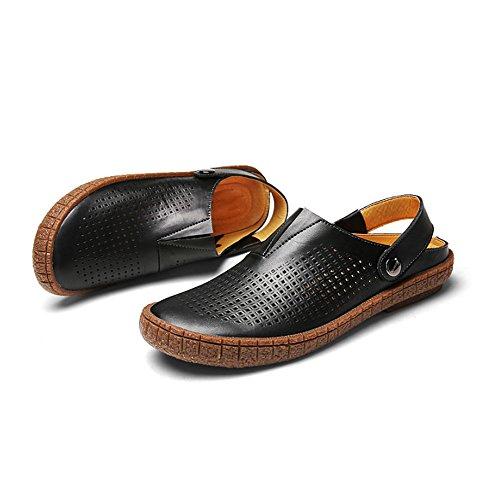 EU da da in pelle sudore pescatore da Sandali spiaggia chiusi Sandali sportivi Size assorbenti all'aperto uomo pelle 2 Sandali estivi spiaggia 40 da uomo Sandali 3 scarpe Brown Black da in Color xwYAzqnO