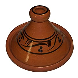 Moroccan Cooking Tagine 22 Measurement: Small 8.5 inches wide Stylish and functional, it makes a wonderful conversation piece as well as a savory meal. Authentic, handmade ceramic cooking tagine provides a tasty, slow-cooked exotic meal.