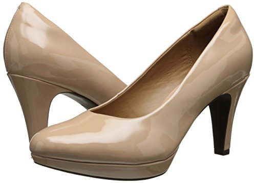 2c561ac704 Clarks Women's Brier Dolly Dress Pump, Nude Synthetic, 6.5 M ...