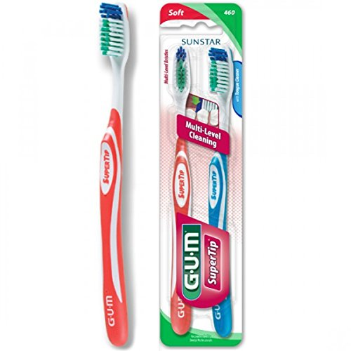 Sunstar 460VPG GUM Super Tip Toothbrush, Full Soft Bristle, Value Pack Sunstar Americas Inc.