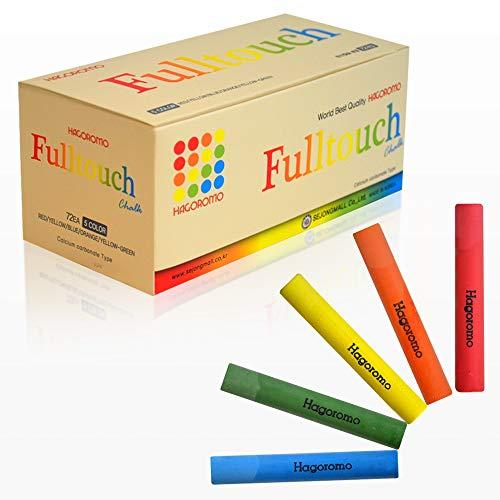 HAGOROMO Fulltouch Color Chalk 1 Box [72 Pcs/5 Color - Color Pcs