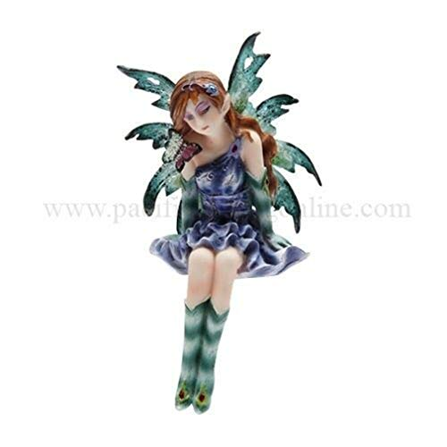 """Ky & Co YesKela Young Pretty Fairy Shelf Sitters Topper Statue Figurine Meadow Legends 3.5"""" Tall"""