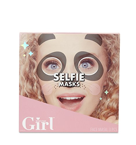 Who's That Girl Animal-Themed Designs Selfie Masks, Multicolor ()