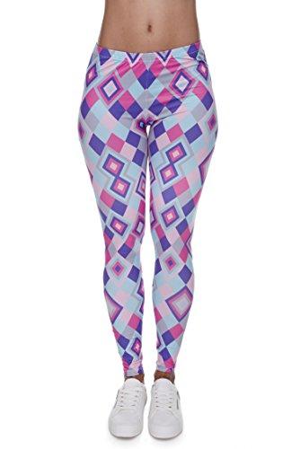 Geometric Print Leggings (Pop Fashion Women Square Print Leggings, Square Yoga Pants, Colorful Leggings, Square Leggings for Teens, Geometric Print Leggings for Women, Square Leggings Girls)