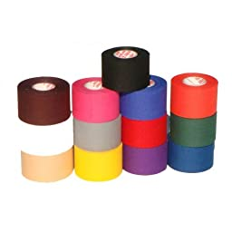 M-Tape Colored Athletic Tape - Purple, 6 Rolls