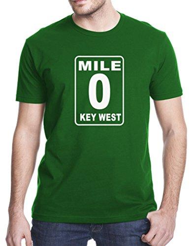 Mile 0 Key West Mile Marker Local Travel T-Shirt, Large, Green (Mile Florida Keys Marker)