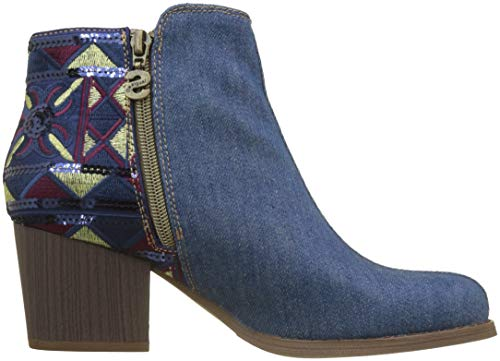 Botines Desigual Shoes Mujer Denim Medium country 5053 Para exotic Azul Wash denim RqROxwB