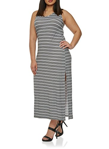 76909xr-blk-wht-4x-plus-size-rayon-spandex-allover-stripe-bodycon-racerback-tank-maxi-dress