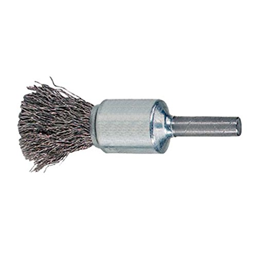 WEILER 10009 Crimped Wire End Brush - Diameter: 1'' Wire Size: .006'' - Pack of 2