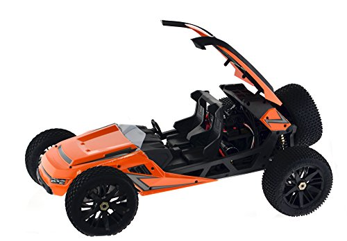 55 MPH Plus HBX T6 Hammer Head Large 1/6 Scale 2WD Orange Desert/Dune Buggy w/2350KV Brushless Motor, Includes 2x7.4V 4200mAh LiPo Batteries & Charger - CIS Associates