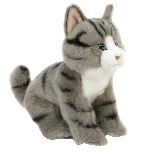 Animal Alley - 9 inch Striped Stuffed Cat - A Fluffy Feline Friend is Thrilled to be a Part of Your Family!