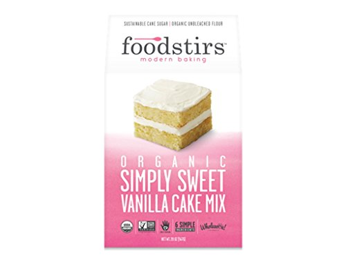 Foodstirs Organic Simply Sweet Vanilla Cake Mix 20 Ounce