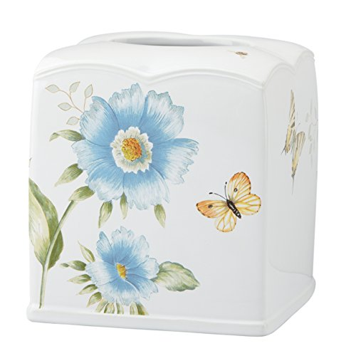 Lenox Butterfly Meadow Floral Garden Tissue Holder, Blue