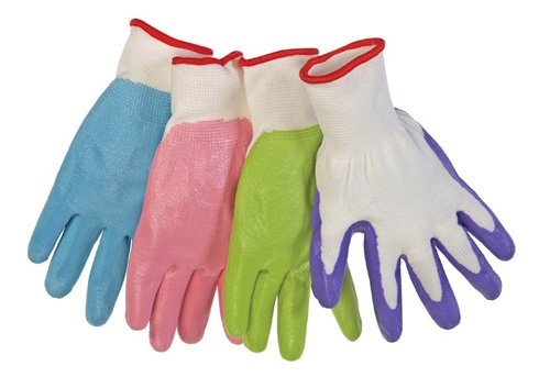 Liberty Q-Grip Ultra-Thin Pastel Colors Nitrile Palm Coated Ladies Glove with 13-Gauge White Nylon Shell (Pack of 12)